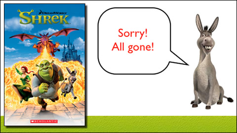 SHREK Popcorn ELT Reader with Audio CD ~ COMPLETEY FREE!