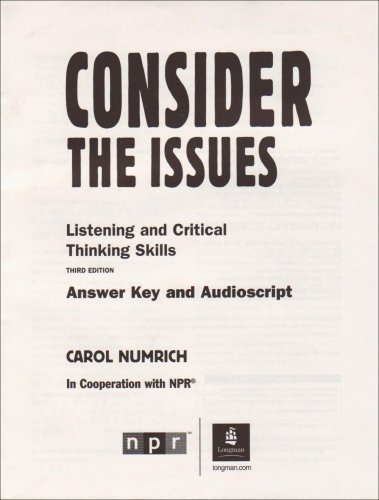 Issues Series: Consider The Issues (3rd Edition)