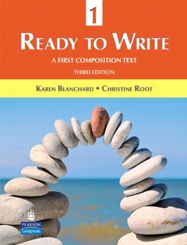 ready to write Ready to write 1, third edition, is a revision of get ready to write, the first book in the highly-successful three-book ready to write series the book teaches beginning students the composition skills they need to be successful writers in and out of the classroom a fresh new design, updated.