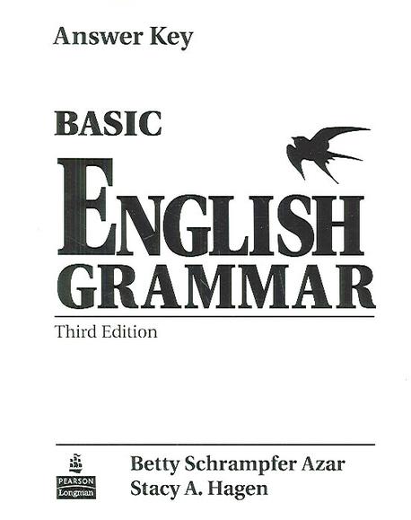 basic english grammar book 1 answer key pdf
