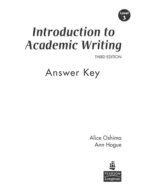 Introduction to Academic Writing Third Edition