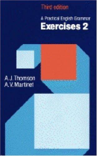 A Practical English Grammar: 3rd Edition