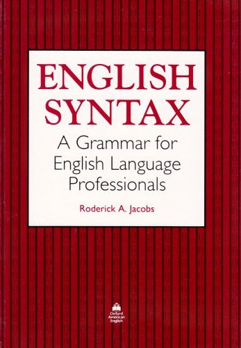 English Syntax - Grammar for EFL Professionals, A
