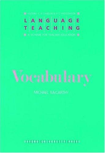 Vocabulary(Language Teaching:A Scheme for Teacher Education)