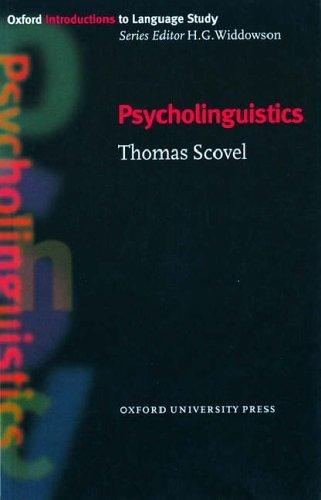 Oxford Introductions to Language Study:Psycholinguistics