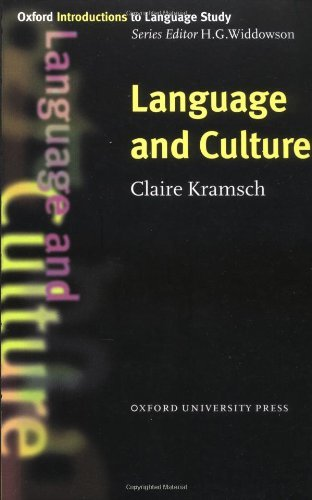 Oxford Introductions to Language Stydy:Language and Culture