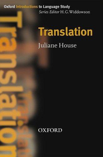 Oxford Introductions to Language Study: Translation