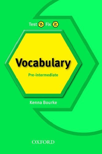 Test it Fix it:New Edition Pre-intermediate Vocablary