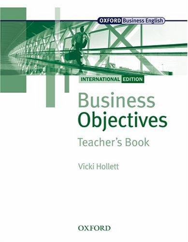 Business Objectives : International Edition