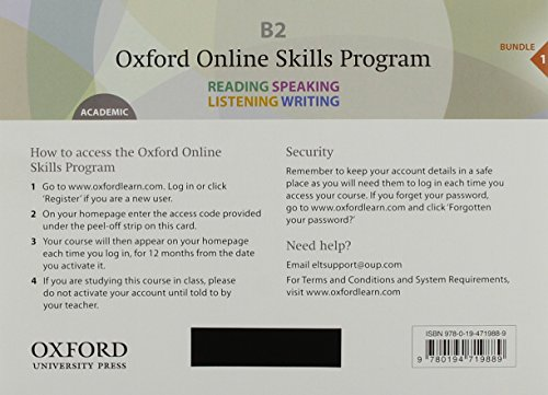 Oxford Online Skills Program - Academic English Bundle 1 (B2)