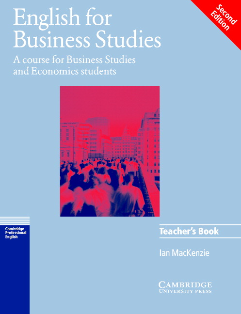 English for Business Studies  2nd  Ed Teacher's Book
