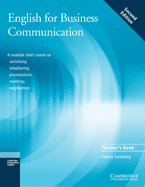 Business Communication Book Cover : English for business communication teacher s book