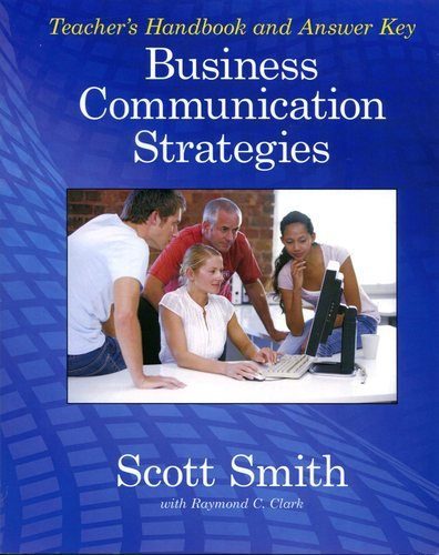 Business Communication Book Cover : Business communication strategies teacher s book by