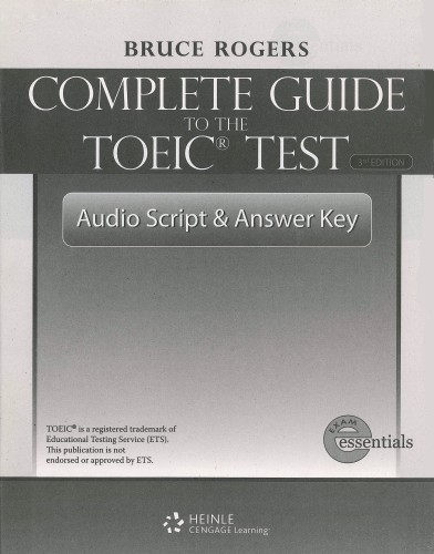 complete guide to the toeic test 3rd edition audio script and answer key by cengage learning. Black Bedroom Furniture Sets. Home Design Ideas