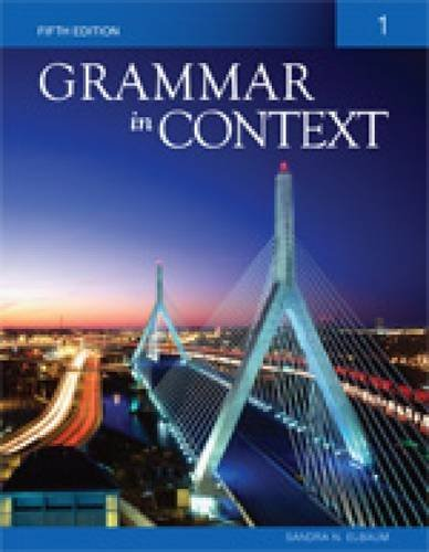 grammar in context With teaching grammar in context, weaver extends her philosophy by  and  practical ideas for teaching grammar not in isolation but in the context of writing.