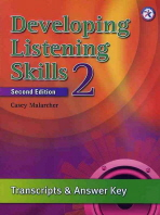 developing listening skills 2nd edition answer key level 2 by casey malarcher on eltbooks. Black Bedroom Furniture Sets. Home Design Ideas