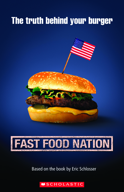 Food Book Cover Quote ~ Scholastic elt readers level fast food nation book