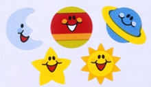 Stationery - Supershapes Stickers